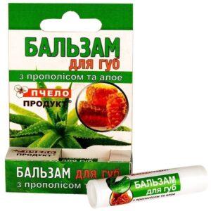 Бальзам для губ прополисный с алоэ-вера, 5 г., гигиеническая помада